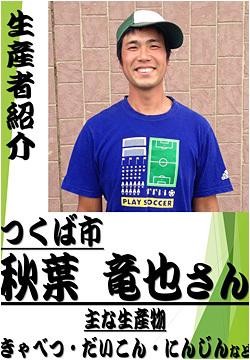秋葉 竜也さん (つくば市) きゃべつ・大根・にんじんの生産
