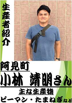 小林 靖明さん (阿見町) ピーマン・たまねぎの生産